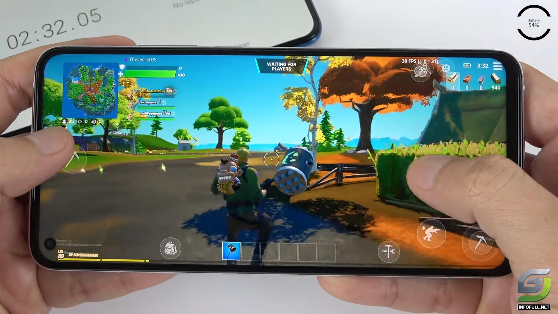 Xiaomi Mi 10T Pro test game Fortnite