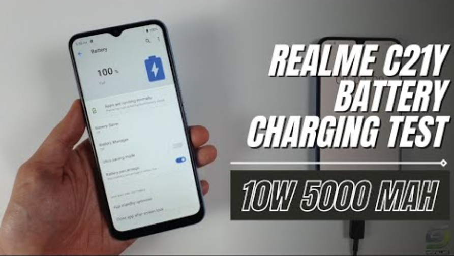 Realme C21Y Battery Charging test
